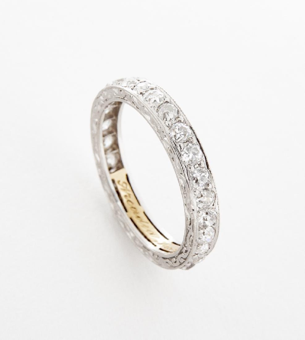 Platinum .81 CTW Diamond Eternity Ring