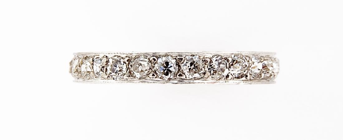 Platinum .81 CTW Diamond Eternity Ring - 2