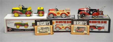 5 Pieces Die Cast Hershey Automobiles