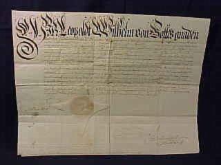 3: William Archduke Leopold Signed Document