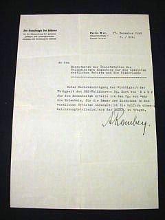 5: Alfred Rosenberg 1940 Signed Document
