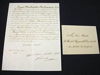 7: Francis of Modena Signed Letter