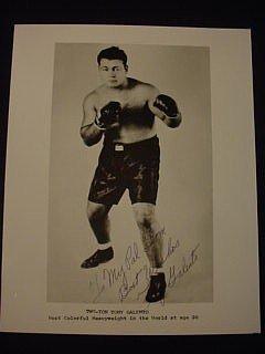 13: Tony Galento Signed Photograph