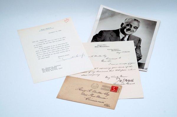 14: 3 Entreprenurial Autographs Watson Jr Wanamaker Fie