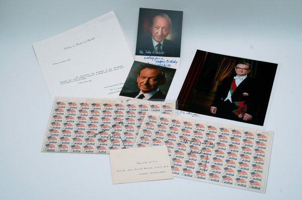 20: 5 International Political Autographs