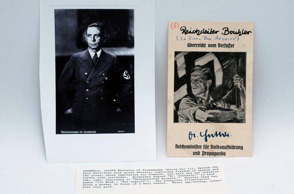 23: Joseph Goebbels Signed Bookplate