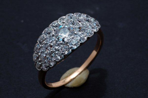 242: Ladies 1.72 CTW Diamond Pave Fashion Ring