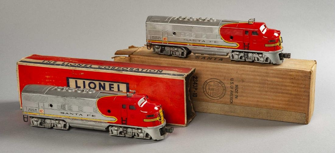 Lionel Postwar 2343 Santa Fe Engine & Dummy in OBs