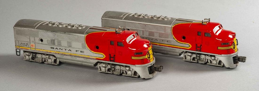 Lionel Postwar 2343 Santa Fe Engine & Dummy in OBs - 2