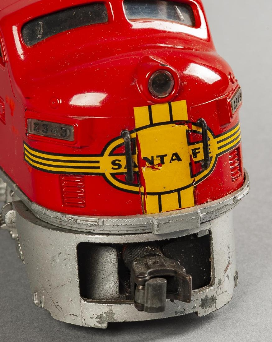 Lionel Postwar 2343 Santa Fe Engine & Dummy in OBs - 3