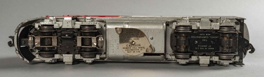 Lionel Postwar 2343 Santa Fe Engine & Dummy in OBs - 4