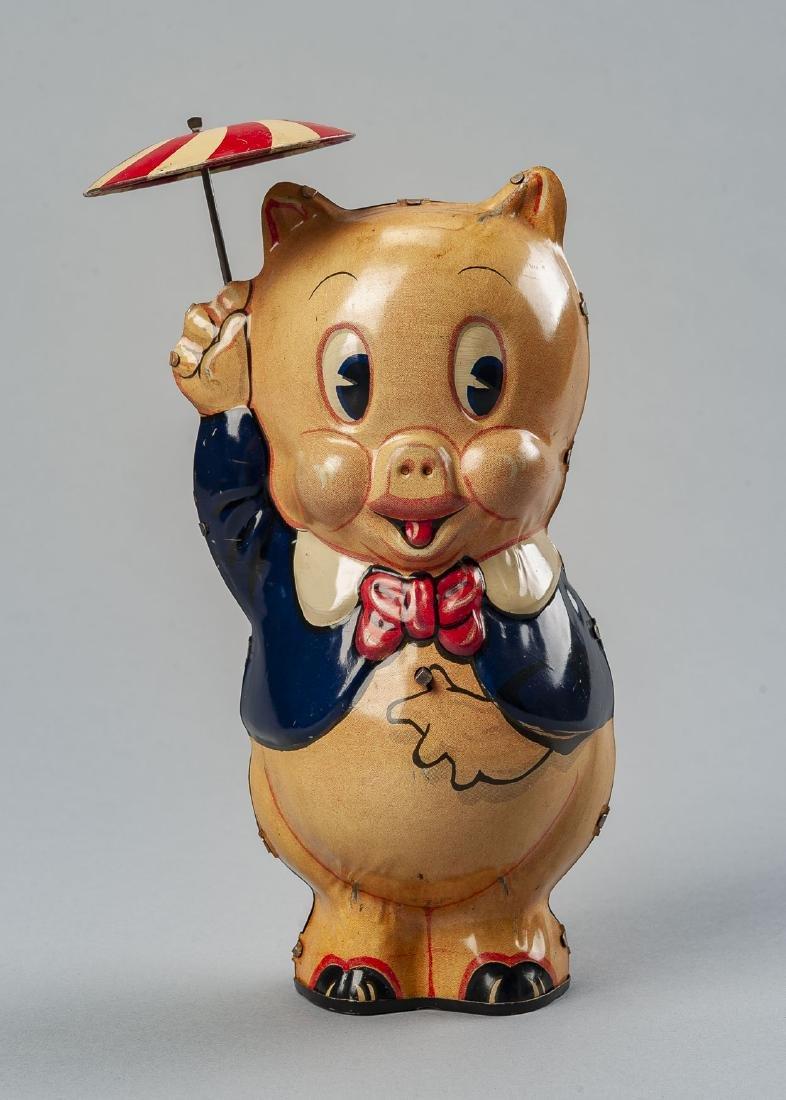Marx Tin Litho Porky Pig Wind Up Toy