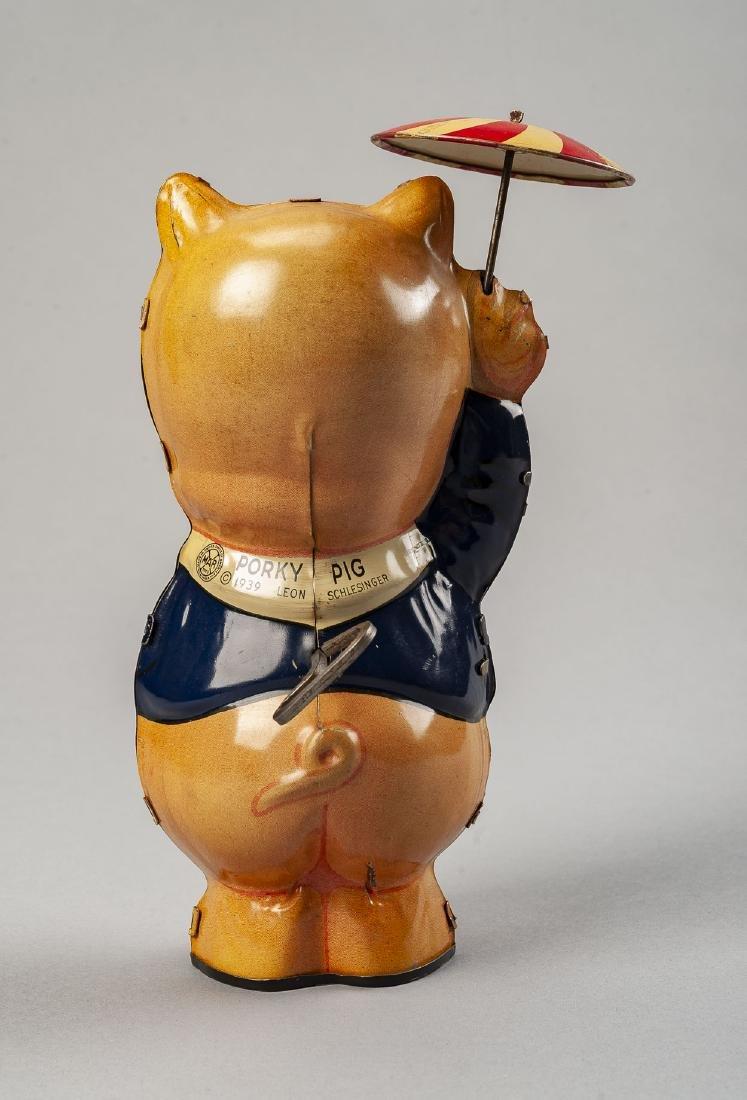 Marx Tin Litho Porky Pig Wind Up Toy - 2