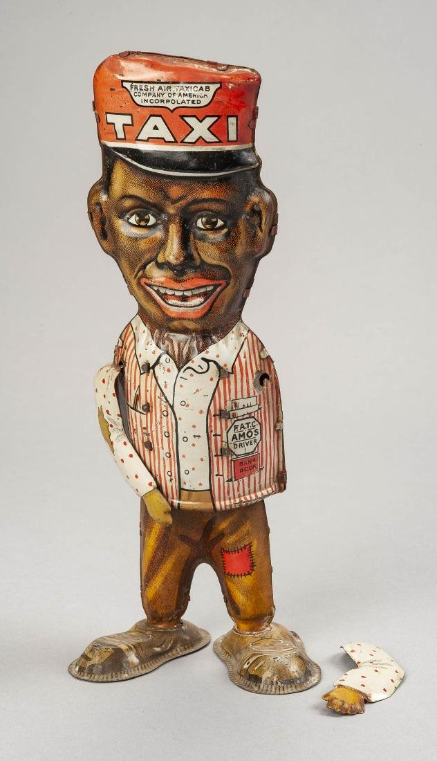 Marx Tin Litho Wind-Up Amos Walking Figure