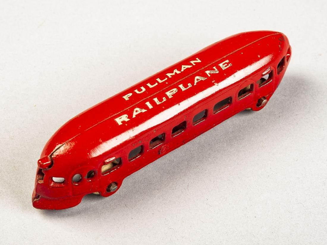 Arcade Cast Iron Pullman Railplane - 2