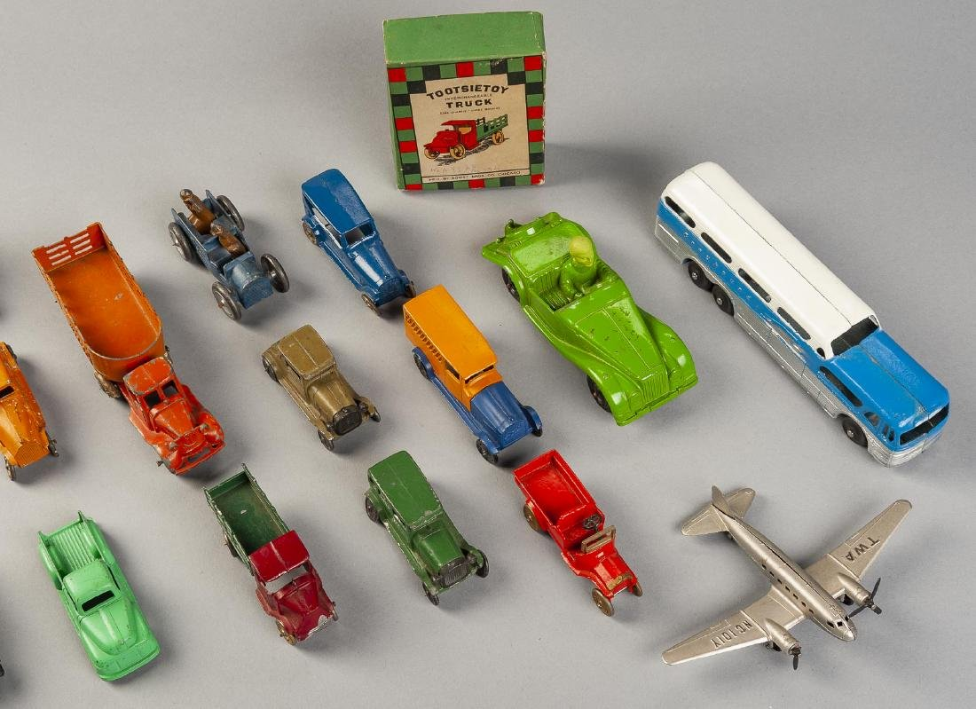21 Tootsie Toy Vehicles Incl Bus & Plane - 3