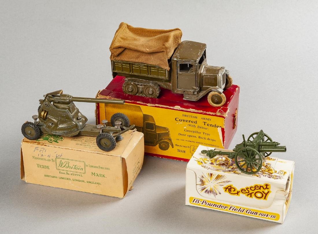 3 Toy Soldier Accessories in OBs Incl Britains