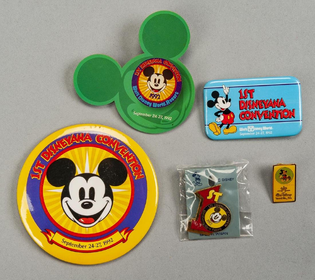 Lot of 1992 Disneyana Convention Collectibles - 2