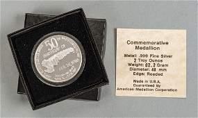 DC Comics Superman Commem Silver Medallion