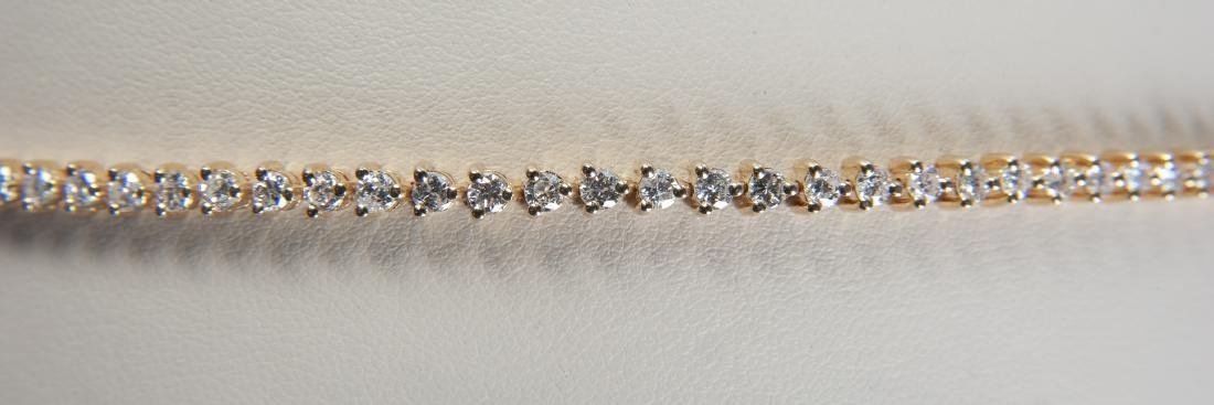 14K 2.75 CTW Diamond Tennis Bracelet