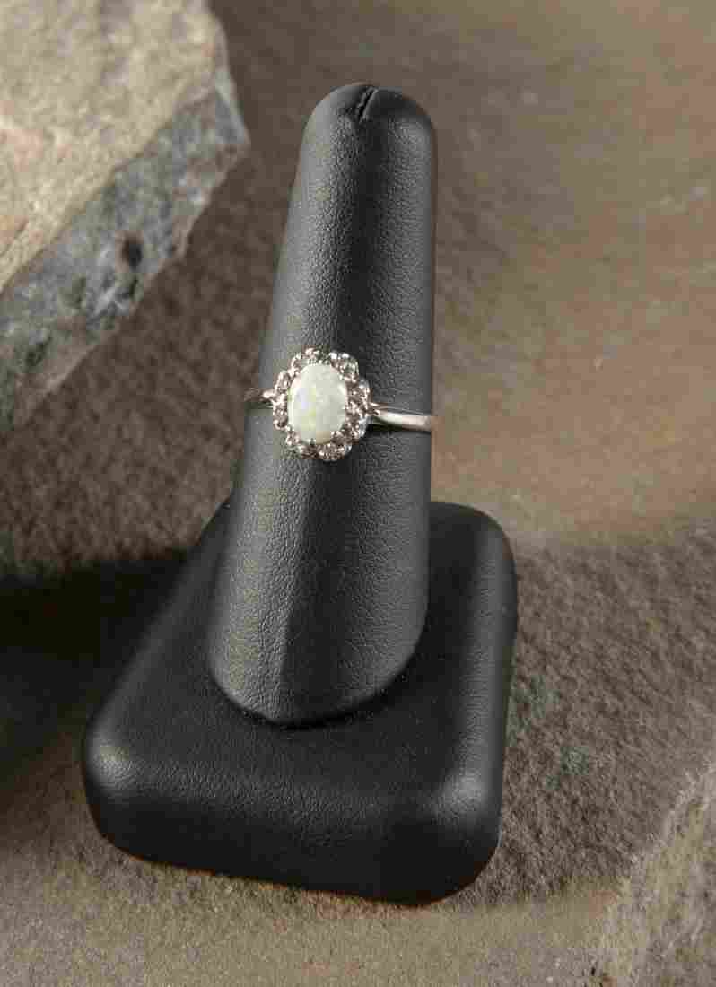 14K Opal & Diamond Ring