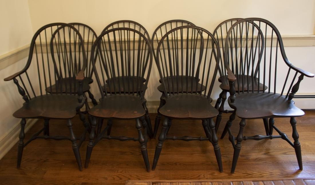 Set 8 Windsor Chairs
