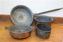 4 Pieces Copperware