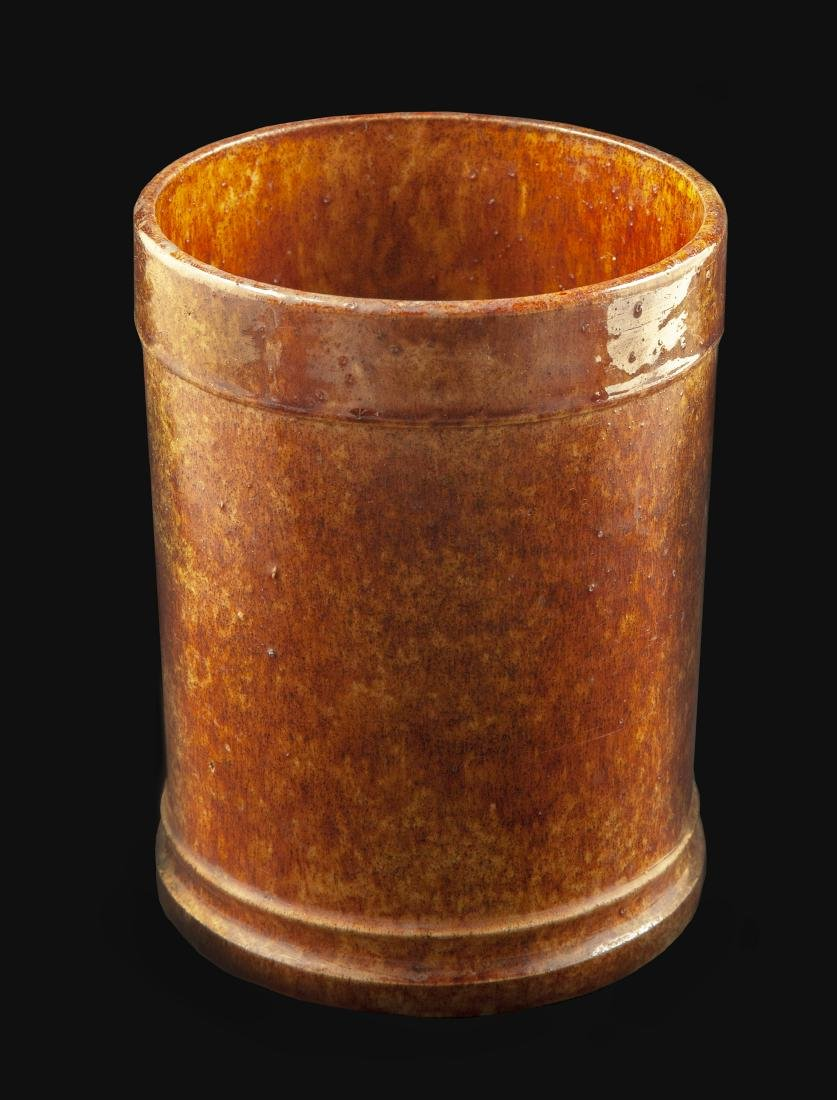 Early Cylindrical Redware Jar