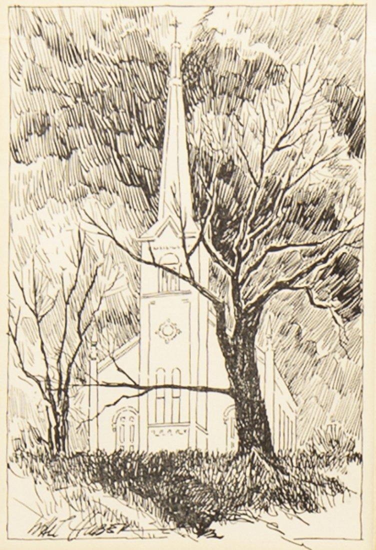 4 pcs Walter Huber (Pennsylvania, 1886-1961) - 4