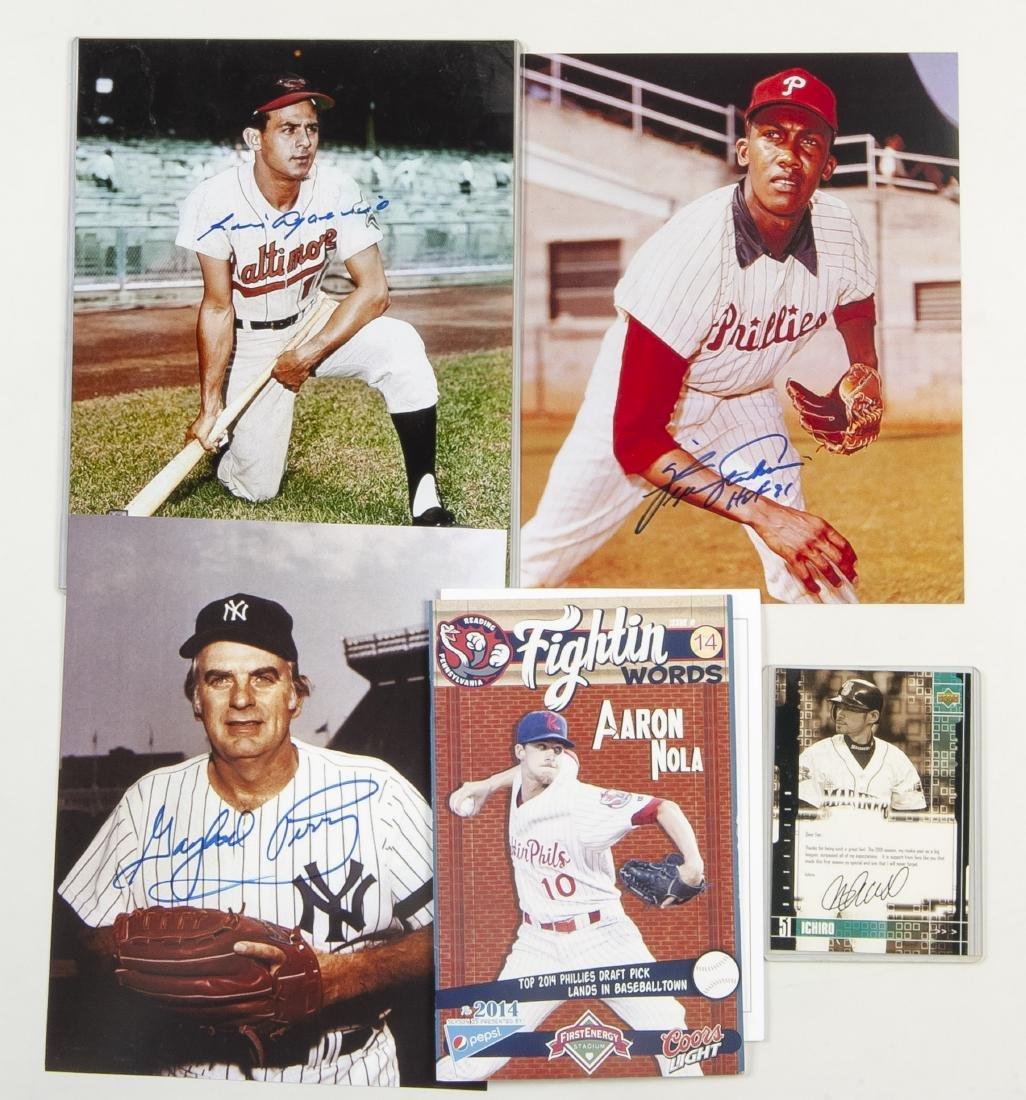 7 Baseball Autographed Items Incl H.O.F.