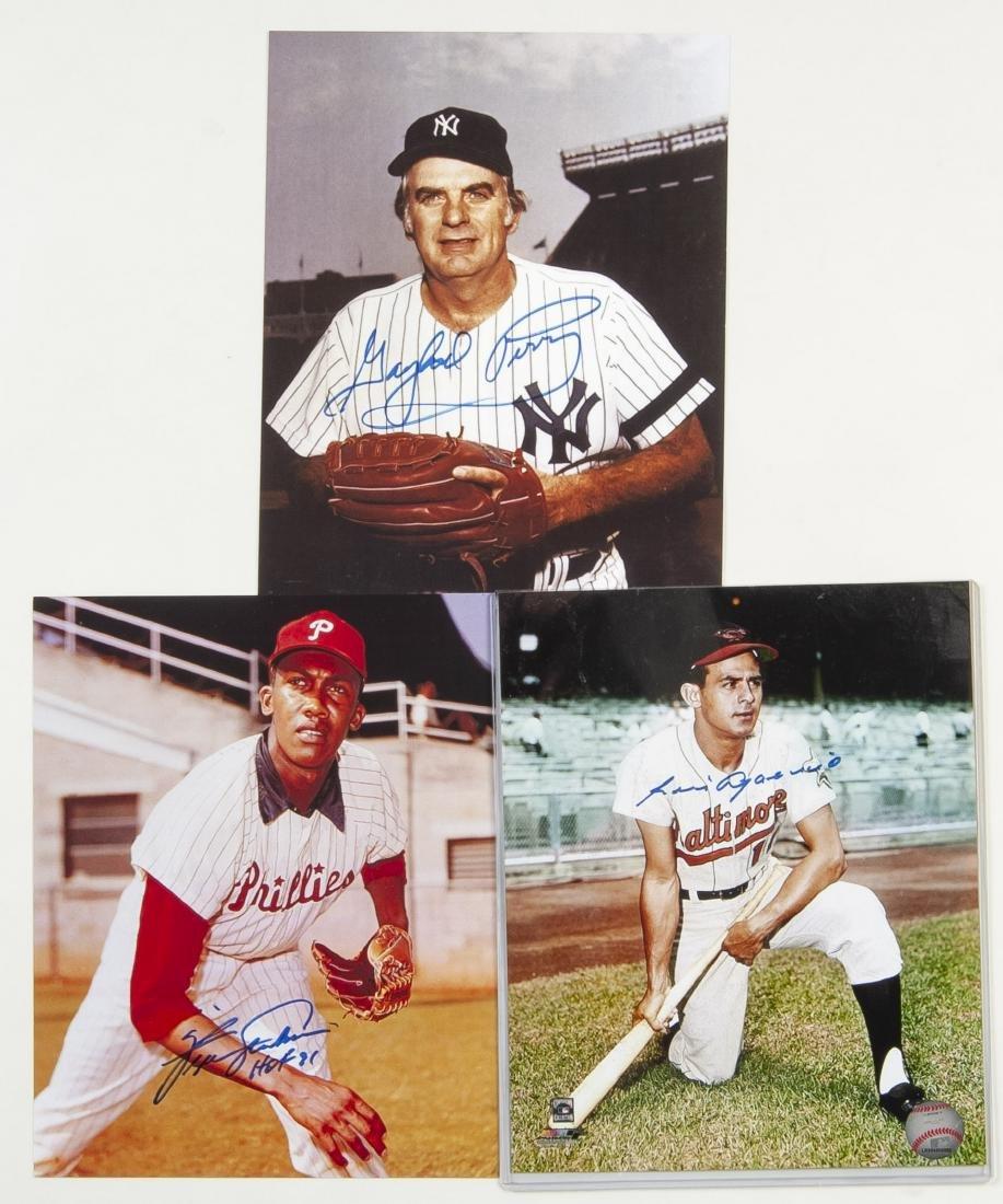7 Baseball Autographed Items Incl H.O.F. - 2