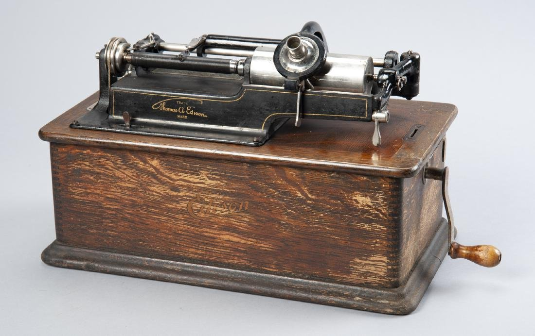 Edison Cylinder Phonograph with Horn - 2