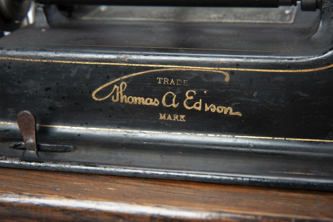 Edison Cylinder Phonograph with Horn - 3