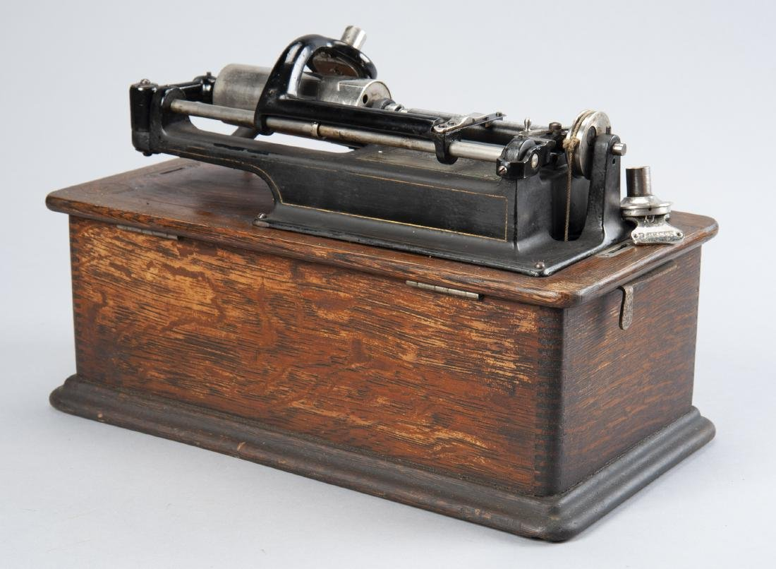 Edison Cylinder Phonograph with Horn - 5