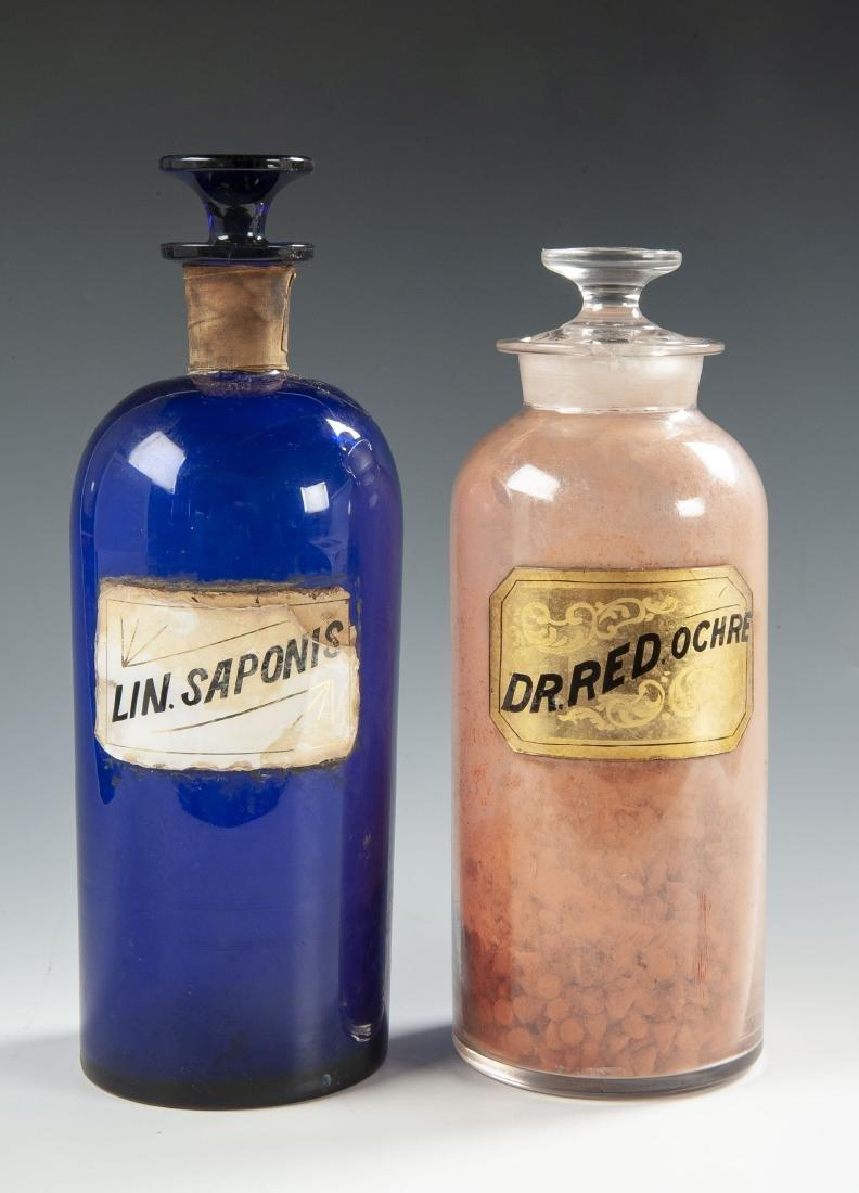 2 Apothecary Bottles