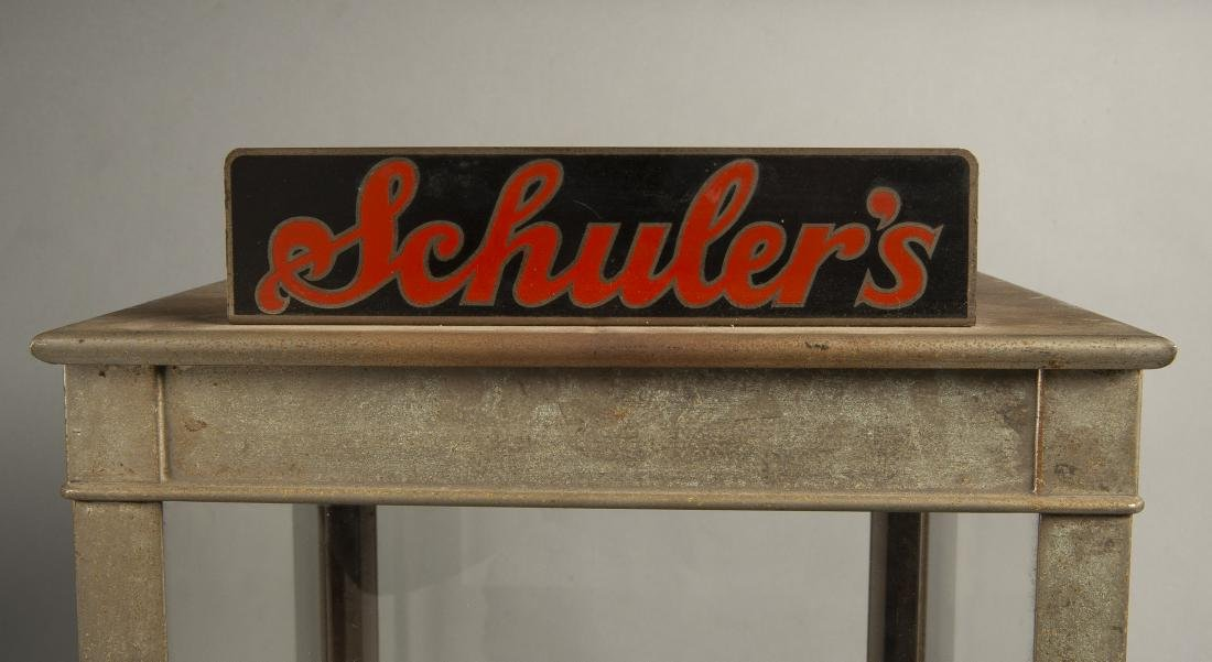 1930s Schuler's Potato Chip Counter Display Case - 4
