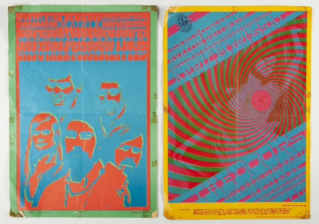 2 1967 Concert Posters Incl The Doors