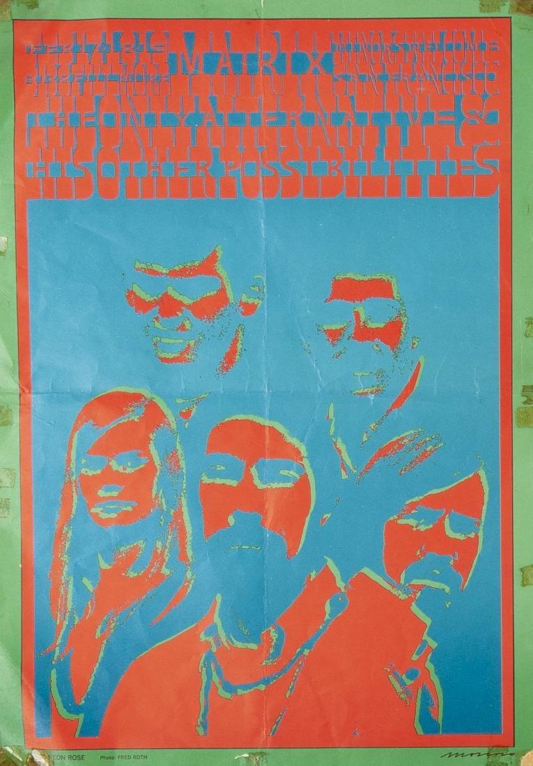 2 1967 Concert Posters Incl The Doors - 3
