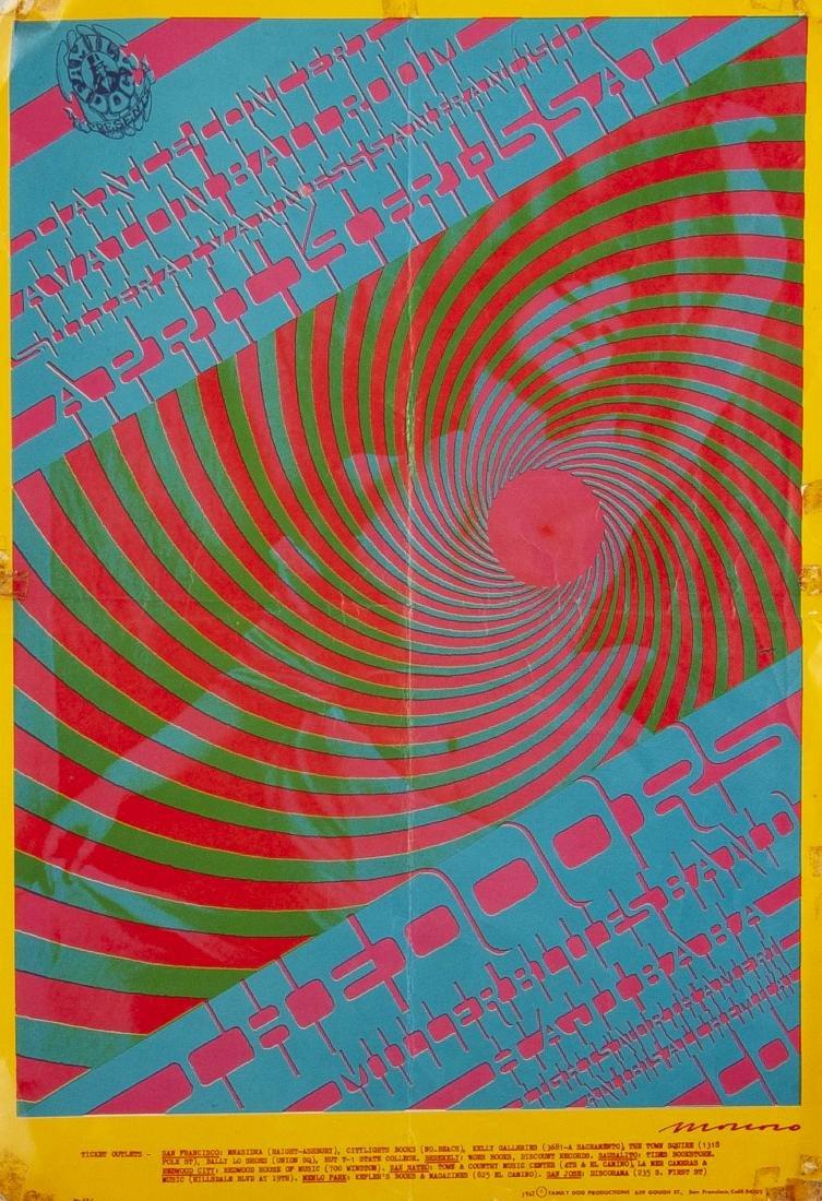 2 1967 Concert Posters Incl The Doors - 4