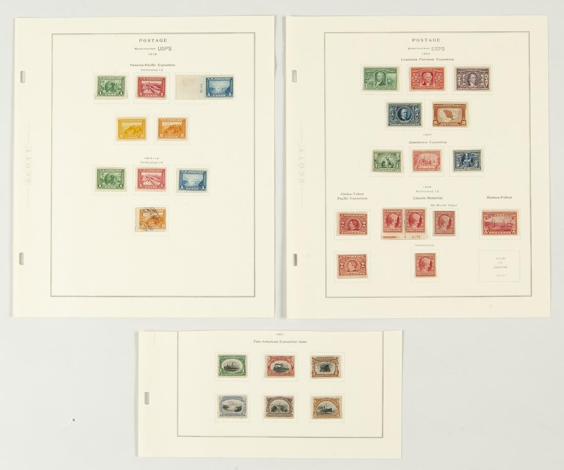 34 pcs U.S. Postage Exposition Issues 1901 1913