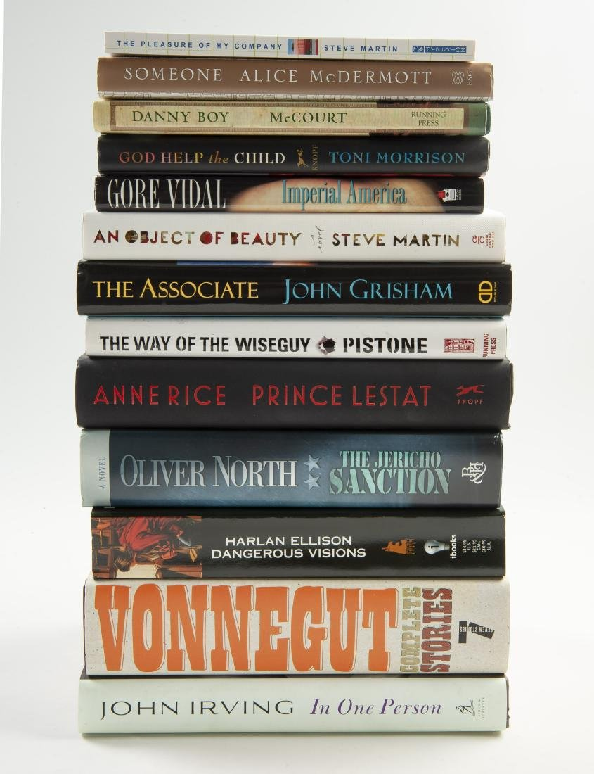 13 Fiction Books, All Signed