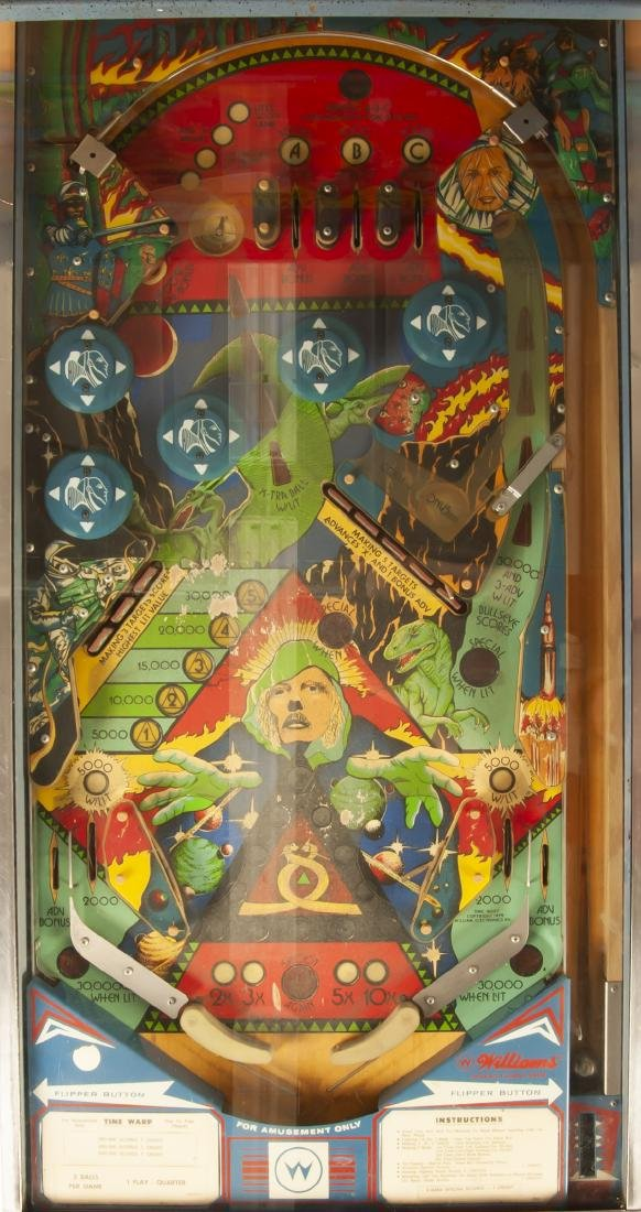 Williams Time Warp Pinball Machine - 8