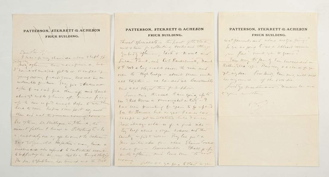 Archive of Letters of Charles F.C. Arensberg - 2