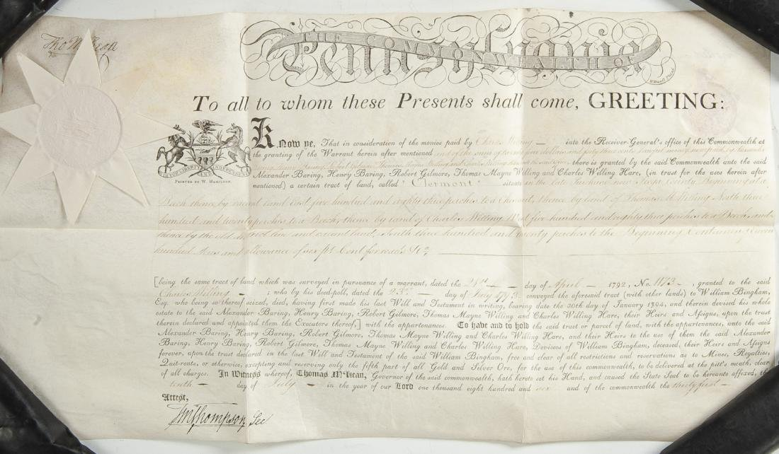 Thomas McKean and Timothy Matlack Signed Document
