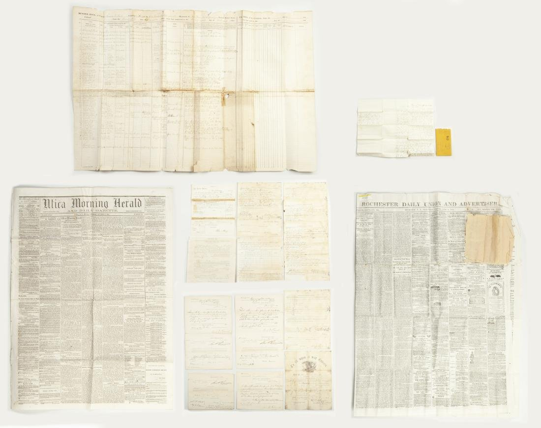 Group of Civil War Documents incl Muster Roll - 2