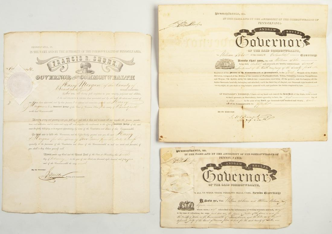 Group of 22 Signature of Governors Of Pennsylvania - 5