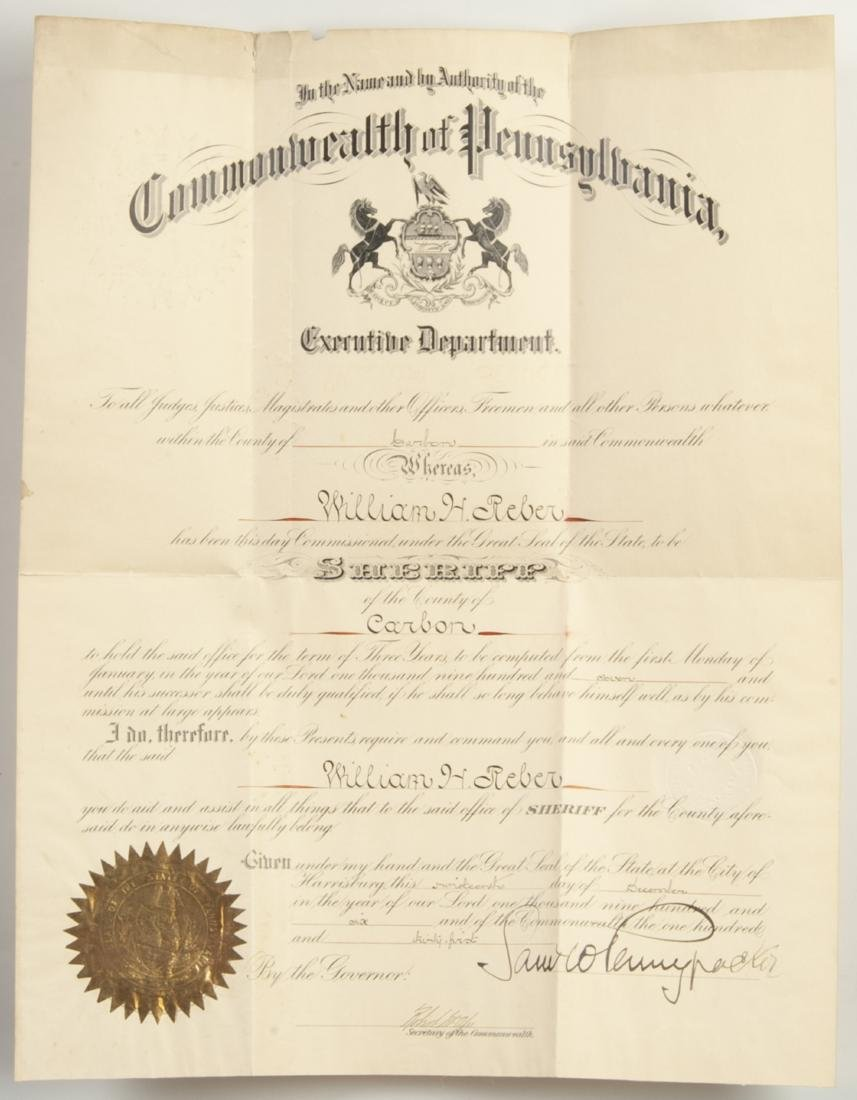 Group of 22 Signature of Governors Of Pennsylvania - 7