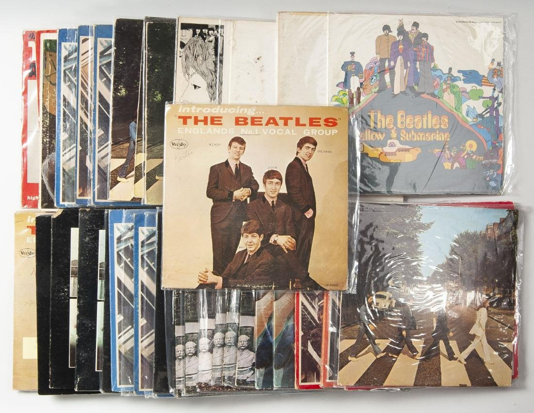 Group of 37 Beatles Albums
