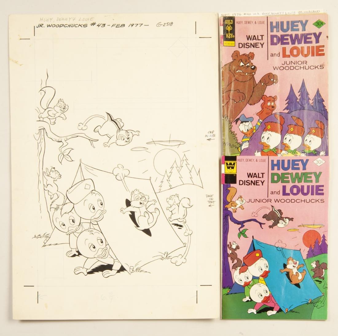 Huey, Dewey & Louie Comics & Orig Cover Art