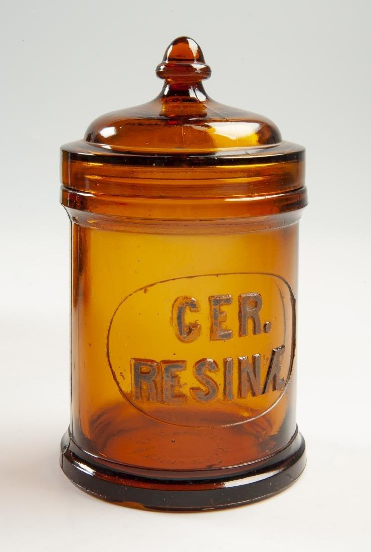 5 Amber Apothecary Jars - 2